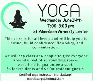 Yoga on Wednesdays